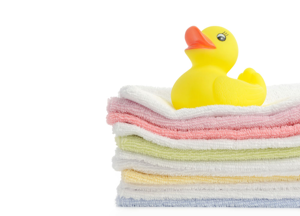 Baby Towels in A Neat Pile