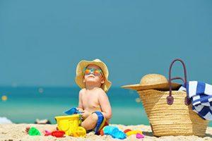 baby in a beach