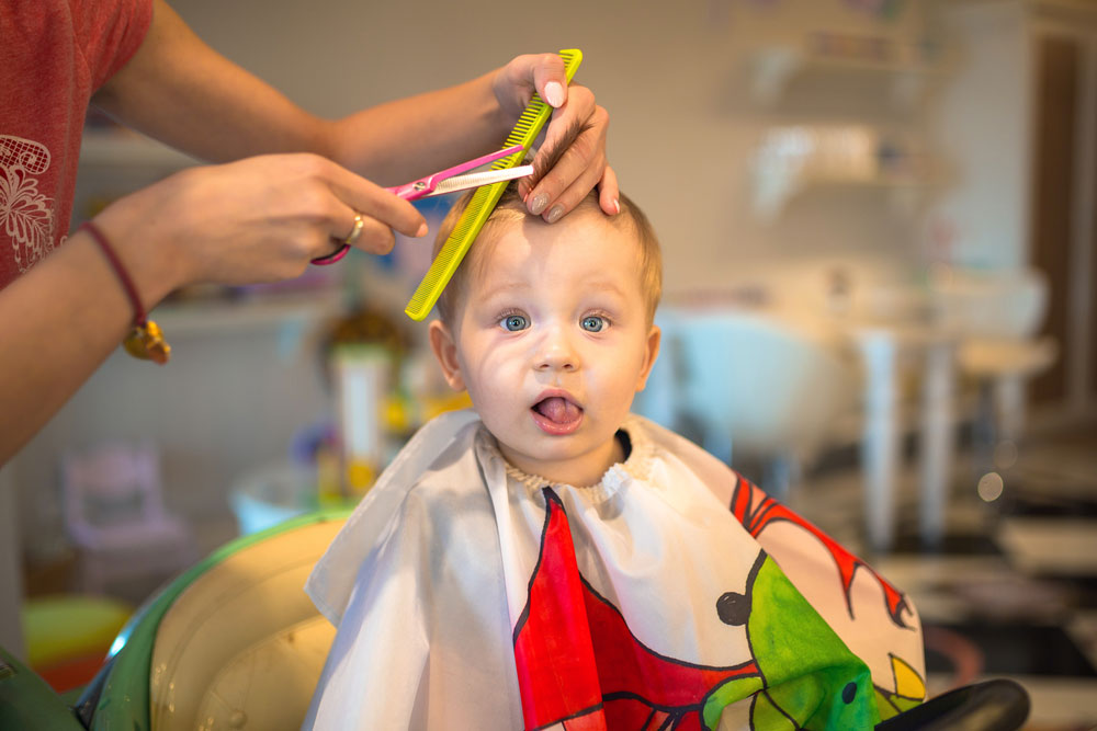 The first hairstyle for a one-year-old